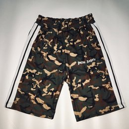Track plus online shopping - 18SS Palm Angels Track Shorts Comprehensive Training Vintage Camouflage Short Pants Casual Sports Street Fashion Shorts HFYMKZ141