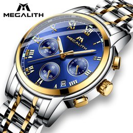 $enCountryForm.capitalKeyWord Australia - Megalith Luxury Luminous Watches Men Waterproof Stainless Steel Analogue Wrist Watch Chronograph Date Quartz Watch Montre Homme MX190724