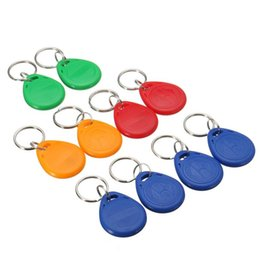 card reader 125khz id NZ - 100 pieces bag 125Khz Key chains RFID Proximity ID Card Token Tags Key Fobs for access control reader