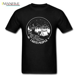 T i sTyle cloThing online shopping - I Hate People T shirt For Man Funny Campers T Shirt Mens Black Tshirt Simple Style Holiday Clothes Cotton Tops Tees Oversized