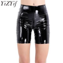 9caf538c2b510 Yizyif Fashion Women Girls Shiny Sexy Stretchy Soft Pu Tight Shorts Wet Look  Zippered Crotch Slimming Short Pants Y190429