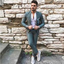 $enCountryForm.capitalKeyWord Australia - Latest Designers Green Men Suits for Wedding Slim Fit Groomsmen Tuxedos Handsome Groom Wedding Tuxedos Men Suits (jakcet+pant)