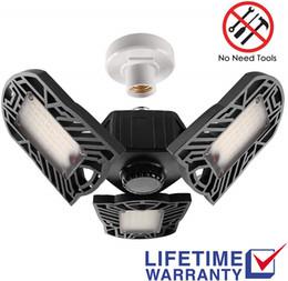 60W 6500Lumens LED de luz de garaje CRI 85 6500k blanco frío Garaje Luces con paneles ajustables en venta