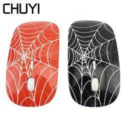 $enCountryForm.capitalKeyWord Australia - CHUYI Ultra Thin Computer Mouse Spider Web Design Wireless Mouse USB Optical Mause For Laptop PC Gift Mause Gamer