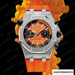 $enCountryForm.capitalKeyWord Australia - 42mm Royal Oak Diving 300M 26703ST.OO.A070CA.01 chronograph sports automatic movement designer mechanical watch Orange Dial Rubber Strap A8