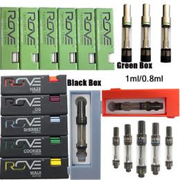 Wax cartridges for vape pen online shopping - 0 ml Rove Cartridges Vape Cartridge Packaging ml Ceramic Rove Carts Empty Oil Vape Pen Wax Vaporizer E Cigarette For Thread Battery