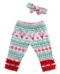 $enCountryForm.capitalKeyWord Australia - Toddler Infant Baby Girls Pants Deer Pattern Baby Leggings +Headband Outfit Set kids Toddler Boys Girls Clothing