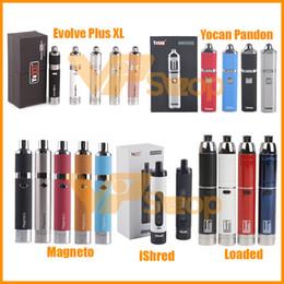$enCountryForm.capitalKeyWord NZ - 100% Original Yocan Loaded Evolve Plus XL iShred Magneto Pandon Torch Dry Herb Wax Vaporizer Kits 1100 1300 2600mAh Battery Vape Pen