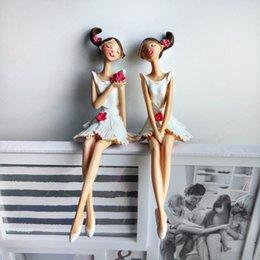 2pcs / set Bella Angel Resin Craft Fairy Figurine regalo di nozze decorazione della casa Ornament Figurine