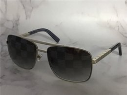 Black Blocks Australia - Designer-vintage designer sunglasses for men attitude 0259 metal square frame blocks uv400 lens outdoor protection eyewear with orange box