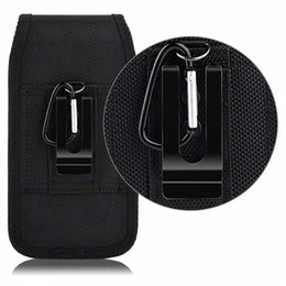 phone belt pouches 2021 - Universal Sport Nylon Belt Clip Holster Cell Phone Cases Leather Pouch For Iphone Samsung Huawei Moto LG Waist Pack Bag Flip Moblie Cover