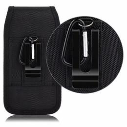 Universal Sport Nylon Clip Ceinture Holster Téléphone portable Cases Pochette En Cuir Pour Iphone Samsung Huawei Moto LG Taille Pack Sac Flip Moblie Couvre en Solde