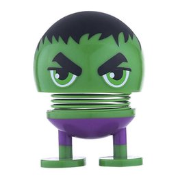 shaking dolls Australia - Avengers Shaking Head Doll 6 Styles PVC Car Decoration Wobble Head Robot Novelty Funny Toys Party Favor