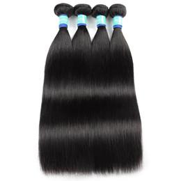remy human hair weaves 2019 - 10A Brazilian Silky Straight Human Hair Bundles 3 4 Bundles Deals Kinky Curly Indian Remy Human Hair Extensions Deep Wav