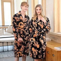 Ms qiu dong season long sleeve coral fleece lovers pajamas for bathrobe  women leisurewear suit flannel gown robes robe womens sleepwear 664666d56