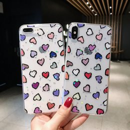 $enCountryForm.capitalKeyWord Australia - Lovely Heart Phone Case For iPhone XS Max XR XS 6 6s Plus 7 8 Plus X Hard Plastic Cute Heart Pattern Back Cover