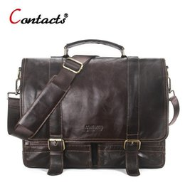 $enCountryForm.capitalKeyWord Australia - Contacts Genuine Leather Men Messenger Bag Male Handbag Shoulder Bags Large Capacity Handbags Briefcases Laptop Crossbody Bags