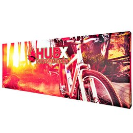 Discount pop up banners stands 30ft Straight Indoor and Outdoor Activity Backwall Display Pop Up Banner Stand Large Display Banner With Vivid Fabric Pr