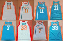 jersey basketball black Australia - Top Quality Semi Pro Movie Flint Tropics 33 Jackie Moon Jersey 11 ED Monix College 7 Coffee Black Basketball Jerseys Stitched Green White