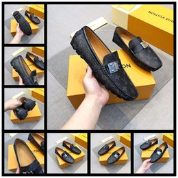 Men Suits Flowers Australia - 2019 Fashion Mens Office Dress Dhoes Genuine Leather Breathable Italian Designer Men Work Shoes Flats Suit for Party Size 38-45