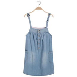 $enCountryForm.capitalKeyWord UK - Women Casual Spaghetti Straps Denim Overall Jumper Woman Summer Dress