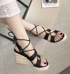 $enCountryForm.capitalKeyWord Australia - Alluring2019 Time Leisure Comfortable Slope Fit Ring Chalaza High-heeled Shoes Sandals A328 -3