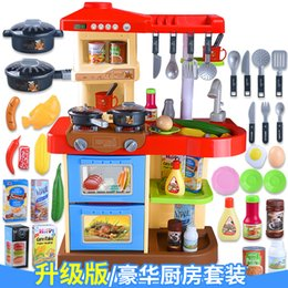 $enCountryForm.capitalKeyWord NZ - 1 Set Red Pink Colour 37 Pcs Set About 72 cm Height Pretend Play Kitchen Set Gift For Children Simulation Intelligence Toy D29