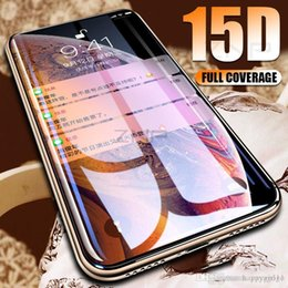 $enCountryForm.capitalKeyWord Australia - Happy 15D Curved Edge Screen Protector Tempered Glass For iPhone 7 8 6 6s Plus Protective Glass on the For iPhone X XS Max XR Film
