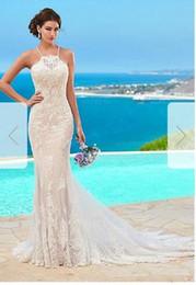 $enCountryForm.capitalKeyWord Australia - Trumpet Mermaid Halter Chapel Train Tulle Wedding Dress014