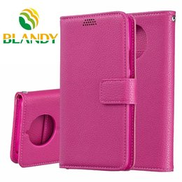 Fold Jacket NZ - 50pcs lot Luxury Double Fold Lychee Leather case Standing Wallet jacket case for Nokia X6 2.1 3.1 5.1 9Pureview