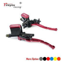 hydraulic brake clutch levers NZ - ATV Dirt Bike Front Brake pump 50-250CC Cylinder Hydraulic Pump 22mm Lock Moto Clutch Lever Handle Accessories Quad Moped