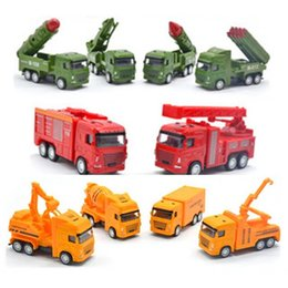 Military Alloy Model Australia - Wholesale Alloy Toy Car Supply Supermarket Baby Toy Alloy Engineering Car Military Missile Car Model Wholesale