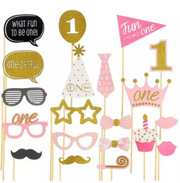 One Year Party Decorations Australia - 1st Birthday I Am One Kraft Paper Banner Baby Boy Girl My 1 Party Decoration First Year Garland Bunting Supplies