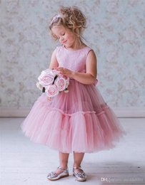 Size toddler girlS pageant dreSSeS online shopping - Pink Vintage Lace Cheap Girls Pageant Dresses Ball Gown Tea Length Crystals Princess Toddler Infant Little Girls Pageant Gown Size