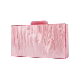 Designer Hand Clutches UK - box clutch Luxury Handbags Women Bags Designer Bag Pearl Pink Bolsas Shopping Travel Make up Summer Hand bag Acrylic Box Clutch