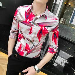 $enCountryForm.capitalKeyWord NZ - 2019 New Spring Autumn Shirts Fashion Trend Folk Men Flowers Printed Casual Hawaiian Half Sleeves Dress Shirts Clothes