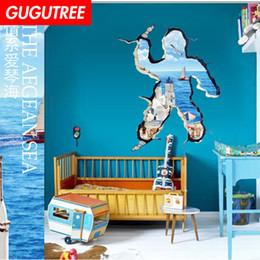 $enCountryForm.capitalKeyWord Australia - Decorate home 3D scenery cartoon art wall sticker decoration Decals mural painting Removable Decor Wallpaper G-830