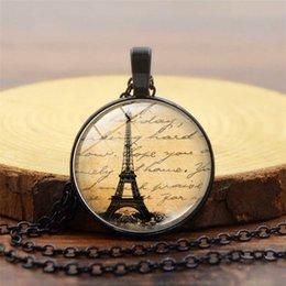 Paris Tower Pendant Australia - 2019 New Paris Eiffel Tower Pattern Pendant Necklace Alloy Glass Dome Pendant Jewelry Wholesale Hot 3 colors optional