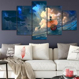 $enCountryForm.capitalKeyWord Australia - One Piece Canvas Posters Home Decor Wall Art Framework 5 Pieces Paintings For Living Room HD Prints Modern Anime Pictures