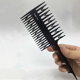 Salon Hair Dyes Australia - 1pc Big Tooth Comb Hair Dyeing Tool Highlighting Comb Brush Salon Pro Fish Bone Design Comb Hair Dyeing Sectioning Unisex Combs