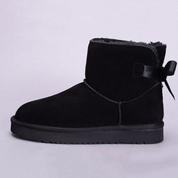 2019 Couro Inverno Neve Mulheres Austrália clássico ajoelhar meio boots Ankle Boots Preto Grey Castanha azul marinho Womens vermelhas menina shoes0b59 # venda por atacado