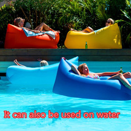 Gas furniture online shopping - Nylon T lazy bag Home Air Furniture Gas Lazy Sofa Bed Sunshine Beach Park Sleeping Air sofa gonflable air lounger waterproof DHL