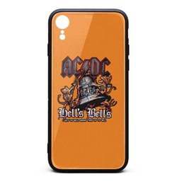 H Case UK - Lots OF Rock ACDC skulls hell's bells white phone cases,case,iphone cases,iphone XR cases custom iphone designer phone cases XR protective h