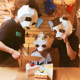 $enCountryForm.capitalKeyWord NZ - 3D Puzzle Paper Stereo Animal Mask Hand-made DIY Free-cut Dance Party Christmas Gifts Toys Headgear Model Props Halloween Cosply Costumes