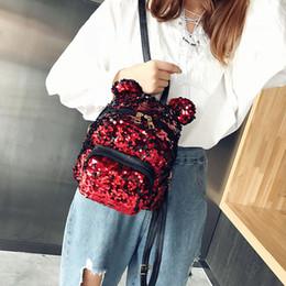 $enCountryForm.capitalKeyWord Australia - NEW Mini Backpack Schoolbags For Girls Beach Fashion Sequins Bow Tie School Bag Backpack Satchel Women Travel Shoulder Bag #Ju