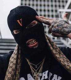 China 2019 New Hip Hop VLONE Bandit Headgear Big V POP STORE Guerrilla Limited Bandit Mask Cold Hat cheap black v mask suppliers