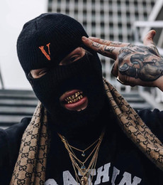 Ingrosso 2019 Nuovo Hip Hop VLONE Bandit copricapo Big V POP STORE Guerrilla Limited Bandit Mask Cold Hat