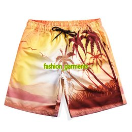 Adisputent Men Beach Shorts Women Fashion Trunks Printed Ladies Boardshort Drawstring High Waist Sportwear Loose Swim Shorts Men's Clothing