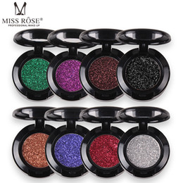cosmetic nude Canada - Miss Rose Diamond Glitter Eyeshadow 30 Colors Single Palette Illuminator Makeup Shimmer Metal Eye Shadow Shine Pigment Cosmetics