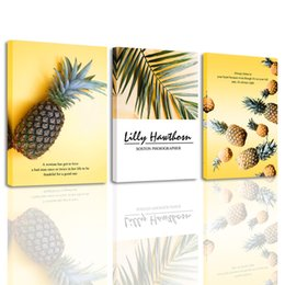 $enCountryForm.capitalKeyWord Australia - Tropical Fruit Picture Wall Art Decor Pineapple Canvas Prints Painting for Kitchen Dining Room Home Decoration